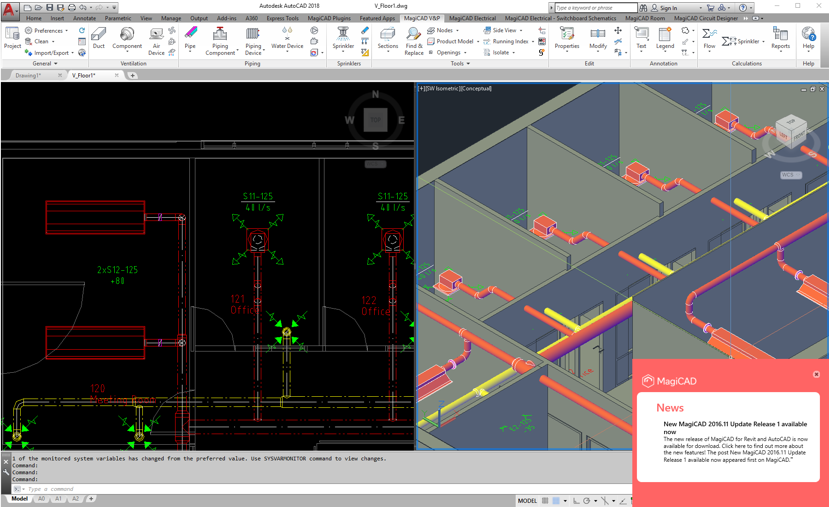 New features - MagiCAD 2018 for AutoCAD - MagiCAD