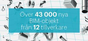 BIM-objekt från 12 olika tillverkare