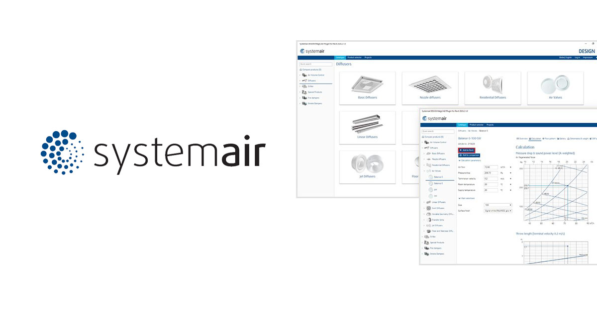 Systemair DESIGN MagiCAD-plugin