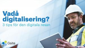 digitalisering inom byggbranschen