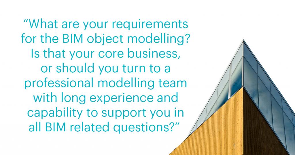 BIM object modelling requirements