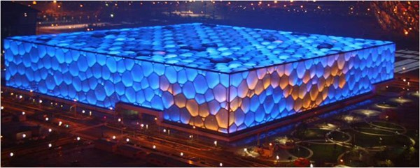 The building 'Water Cube'/ 'Ice Cube'